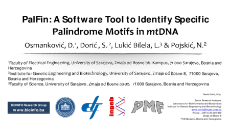 1.P10 Doric – PalFin: A Software Tool to Identify Specific Palindrome Motifs in mtDNA