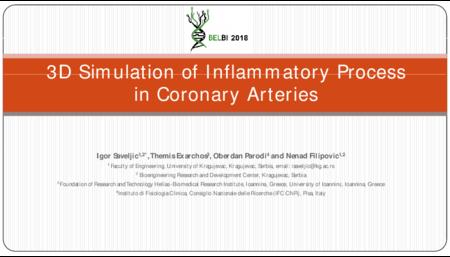 1.P1 Saveljic – 3D Simulation of Inflammatory Process in Coronary Arteries
