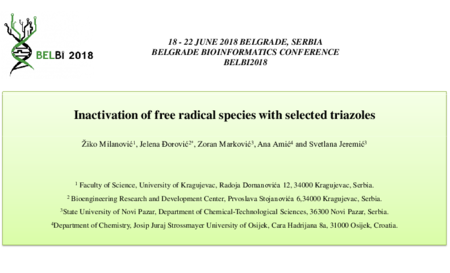 1.P8 Milanovic – Inactivation of free radical species with selected triazoles