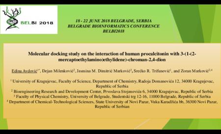 1.P9 Avdović – Molecular docking study on the interaction of human procalcitonin with 3-(1-(2-mercaptoethylamino)ethylidene)-chroman-2,4-dion