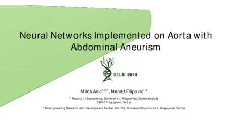 2.P10 Anic – Neural Networks Implemented on Aorta with Abdominal Aneurism