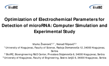 2.P6 Zivanovic – Optimization of Electrochemical Parameters for Detection of microRNA: Computer Simulation and Experimental Study