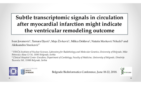 2.P8 Jovanovic – Subtle transcriptomic signals in circulation after myocardial infarction might indicate the ventricular remodeling outcome