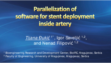 2.P9 Djukic – Parallelization of software for stent deployment inside artery