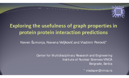 3.P4 Sumonja – Exploring the usefulness of graph properties in protein protein interaction predictions