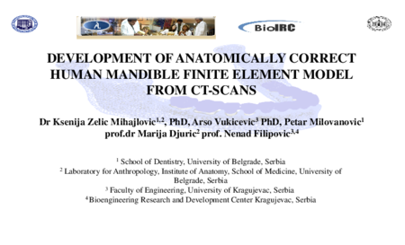 3.P5 Zelic – Development Of Anatomically Correct Human Mandible Finite Element Model From CT-Scans