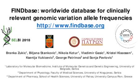 3.P6 Zukic – FINDbase: worldwide database for clinically relevant genomic variation allele frequencies