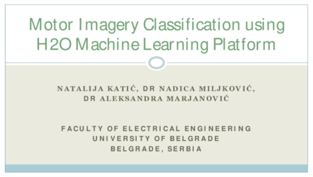 4.P5 Katic – Motor Imagery Classification using H2O Machine Learning Platform